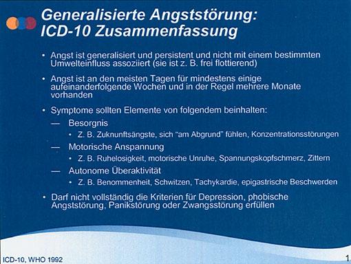 Prof. Dr. Hans-Jürgen Möller: Generalisierte Angststörung ‑ Bestandsaufnahme