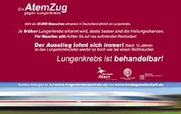 Ein AtemZug gegen Lungenkrebs – Deutschlandweite Awarenesskampagne zur Vermeidung und Früherkennung von Lungenkrebs