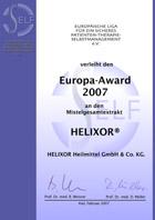 SELF-Europa-Award 2007 an Helixor