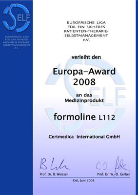 SELF-Europa-Award 2008 : Effektives Gewichtsmanagement mit L112®