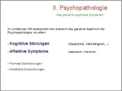 Dr. med. Martin Meier: Die MS aus der Perspektive der Psychologie