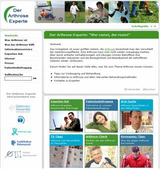 Informationen rund um die Volkskrankheit Arthrose: www.arthrose-experte.de im neuen Look