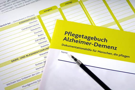 Pflegetagebuch Alzheimer-Demenz