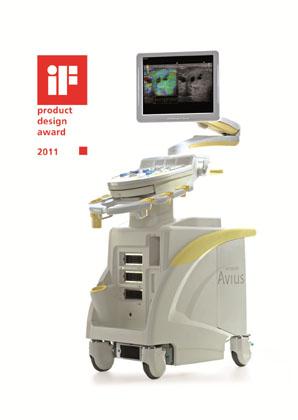 """iF product design award 2011"" für Hitachi's Ultraschallplattform HI VISION Avius®"