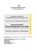 """Entwicklung des Expertenstandards """"Schmerzmanagement in der Pflege bei chronischen Schmerzen"""""""