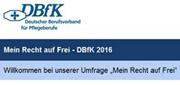DBfK: Mitmachen bei Online-Umfrage 'Mein Recht auf Frei'