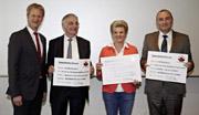 """WÖRWAG Pharma spendet 16.000 Euro an Diabetes-Projekte: Spendenübergabe im Rahmen der Aufklärungsinitiative """"Diabetes! Hören Sie auf Ihre Füße?"""""""