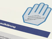 """Neues Logo kennzeichnet Schulungsmaterial: """"Blaue Hand"""""""