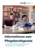 Neue DBfK-Broschüre: Informationen zum Pflegeberufegesetz