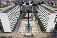 Modulgebäude Intensivmedizin Göttingen: Schwerlast, Überbreite, 500 Tonnen-Kran